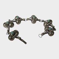 Sterling Silver Turquoise Bracelet in Unique Design