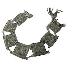 Sterling Silver Filagree Link Bracelet