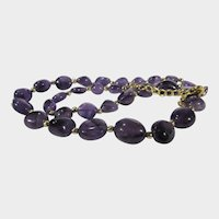 Amethyst Necklace With Irregular Beads with Gold Wash Sterling Findings