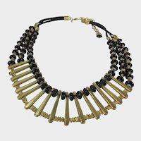 Chico's Statement Necklace in Goldtone and Black