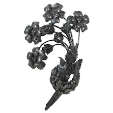Sterling Silver Vintage Floral Bouquet Pin