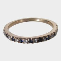 14 Karat Rose Gold Vera Wang Ring With Sapphires and Diamonds