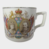 King George V and Queen Mary 1910 - 1935 Silver Jubilee Mug by JG Meakin
