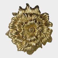 Monet Giant Goldtone Flower Pin