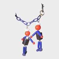 Bakelite Sailors on Lucite Chain