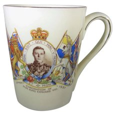 King Edward VIII Commemorative Mug Dated 1937 by Empire England