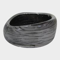 Lucite Cuff in  Silver and Black