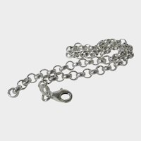 Sterling Silver Link Bracelet Made in Italy