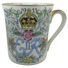 1953 Queen Elizabeth II Coronation Mug By Hammersley