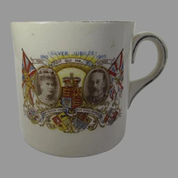 King George V and Queen Mary 1910 - 1935 Silver Jubilee Coffee Cup by Royal Minton