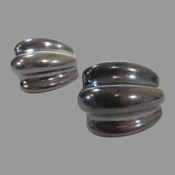Sterling Silver Signed Pierced Earrings