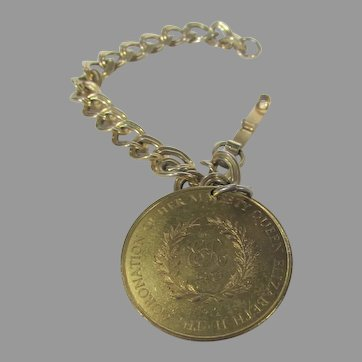 Queen Elizabeth II Coronation Coin Bracelet