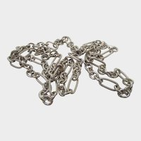 Sterling Silver Open Link Necklace