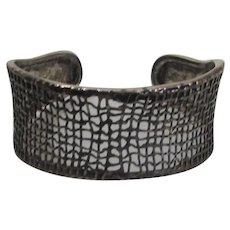 Sterling Silver Silpada Webbed Design Modernist Cuff