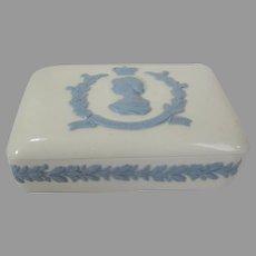 Queen Elizabeth II Coronation Wedgwood Queensware Trinket Box
