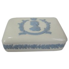 Queen Elizabeth II Coronation Wedgwood Queensware Trinket Box