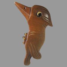 Wooden Woody Woodpecker Pin