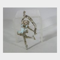 Vintage Ice Capades Skater with Banner Pin