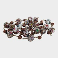 Murano Beads In a Variety of Colors With Bronze Color S Hook Clasp