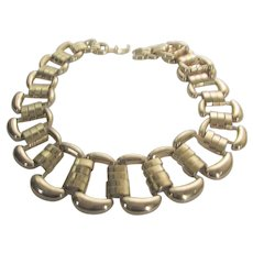 Goldtone Large Open Link Necklace