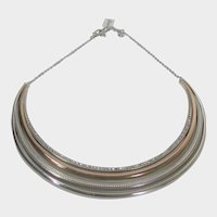 Brighton Statement Necklace With Silver and Rose Goldtones