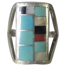 Sterling Silver Inlaid Ring by Riatone