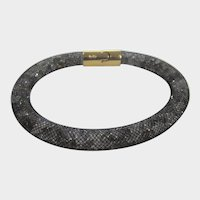 Swarovski Crystal Rope Bracelet With Unique Goldtone Clasp
