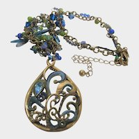 Chico's BoHo Necklace With Enamelling and a Variety of Crystals
