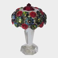 Swarovski Tiffany Style Lamp with Crystal Body and Bejeweled Top