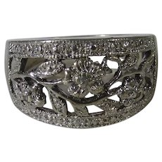 Sterling Silver Open Floral Band