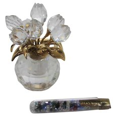Swarovski Bouquet Bottle Complete With Original Colored Crystals