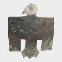Native American Sterling Silver Pin or Pendant Thunderbird by Navajo Thomas Tso