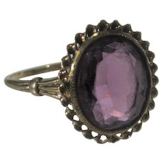 10 Karat Yellow Gold Amethyst Ring