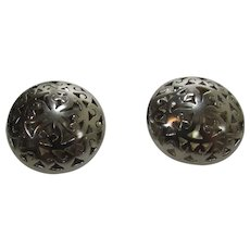 Sterling Silver Puffy Earrings for Pierced Ears
