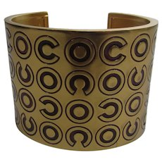 Chanel CoCo Logo Bangle From 1980's