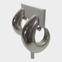 Sterling Silver Hoop Clip On Earrings
