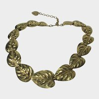 Trifari Goldtone Leaf Necklace