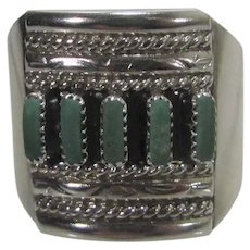Native American Sterling Silver Zuni Turquoise Ring