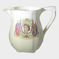 Queen Elizabeth II Coronation Fine Milk Pitcher by Meakin England