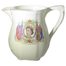 Queen Elizabeth II Coronation Fine Milk Pitcher by Meakin England