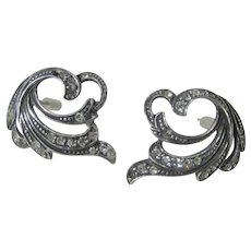 Sterling Silver Marcasite Pierced Earrings
