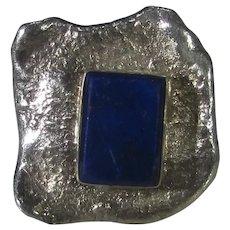 Sterling Silver Lapis Lazuli Ring in Unique Design