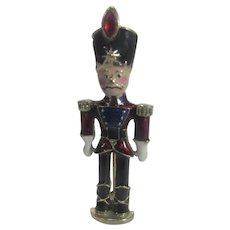 Christmas Toy Soldier Nutcracker Enamelled With Red Crystal Hat