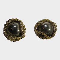 Vintage Norma Jean Clip On Earrings In Mixed Metals