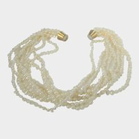 Freshwater Pearl Necklace with Gold Tone Magnetic Clasp
