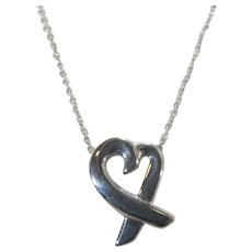 Tiffany Sterling Silver By Paloma Picasso Heart Necklace