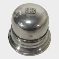 Birks Silver Plate Bell Domed Ring Box