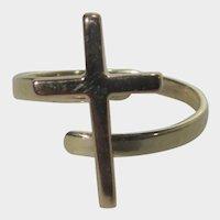 14 Karat Yellow Gold Cross Ring