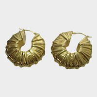LR Bronze Italy Gold Tone Costume Earrings for Pierced Ears