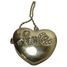 Vintage Kirk's Folly Double Sided Heart Locket Love and Always